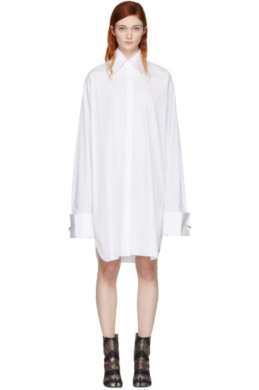 Marques Almeida - White Oversized XXL Shirt Dress