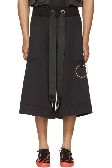 Marques Almeida - Black Tracksuit Shorts
