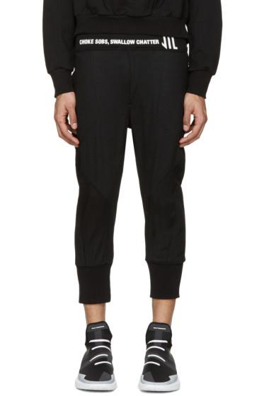 NILøS - Black Cropped Logo Lounge Pants