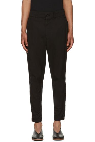 Issey Miyake Men - Black Cotton Jodhpur Trousers