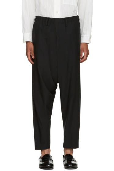 Issey Miyake Men - Black Wool Dropped Trousers