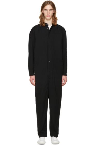 Issey Miyake Men - Black Collarless Jumpsuit