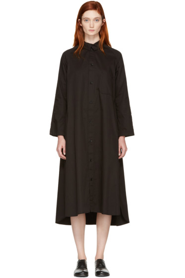 Y's - ブラック シャツ ドレス