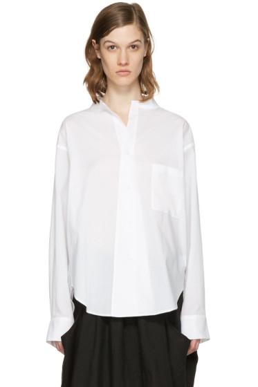 Y's - ホワイト オープン カラー シャツ