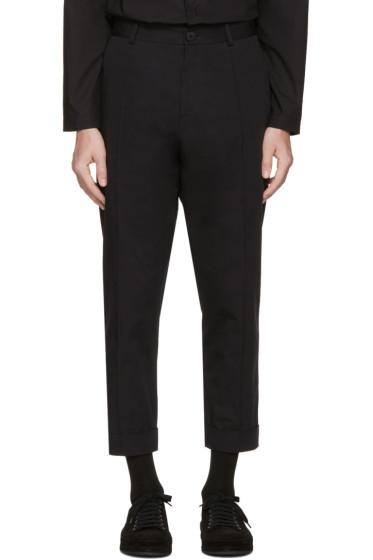 Isabel Benenato - Black Cotton Trousers