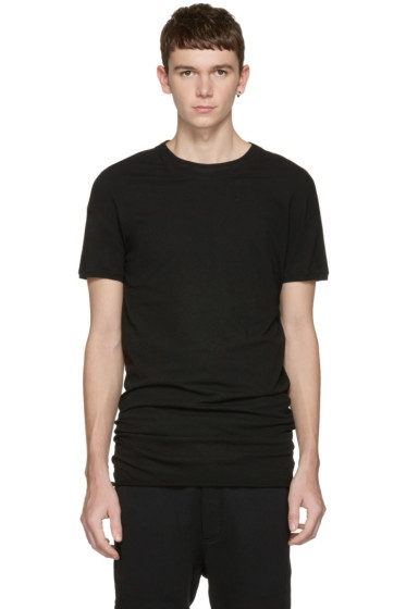 Isabel Benenato - Black Double Collar T-Shirt