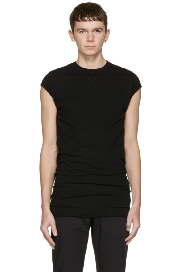 Isabel Benenato - Black Long Tank Top