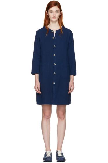 Blue Blue Japan - インディゴ シャツ ドレス