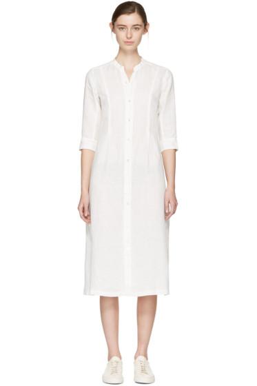 Blue Blue Japan - ホワイト リネン シャツ ドレス