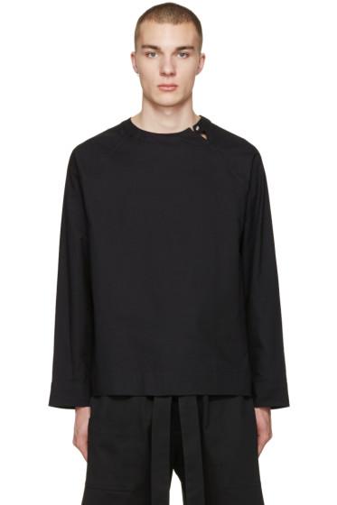 Phoebe English - Black Split Neck Shirt