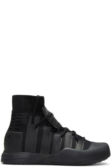 Y-3 SPORT - Black Control High-Top Sneakers