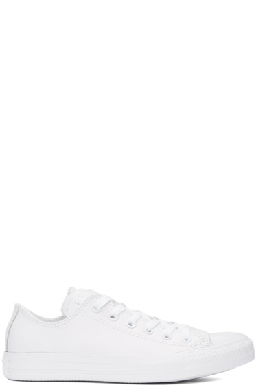 Converse - White Leather CTAS Sneakers