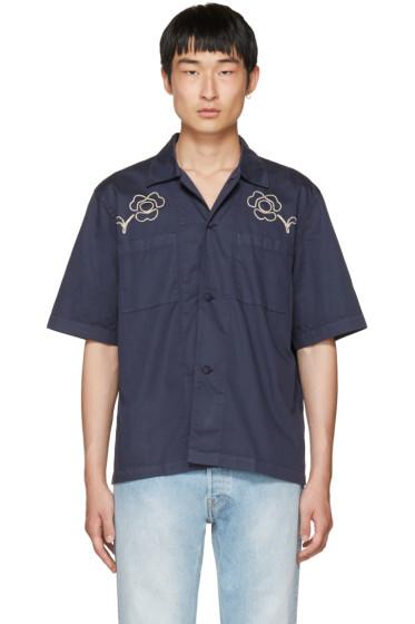 Our Legacy - Navy 'Splash' Box Shirt