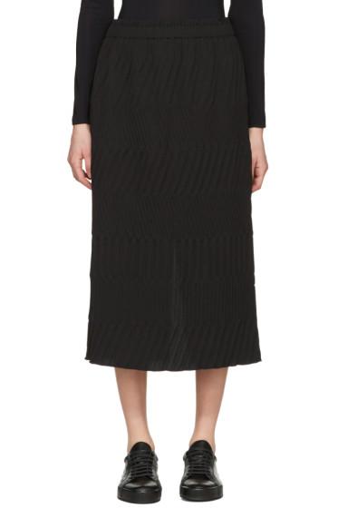 Issey Miyake - Black Tribal Pleated Skirt