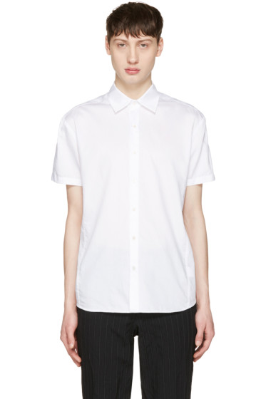 Curieux - ホワイト プリーツ バック シャツ