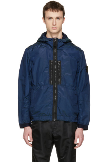 Stone Island - Indigo Iridescent Hooded Jacket