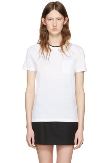 Miu Miu - White Lace Intarsia T-Shirt