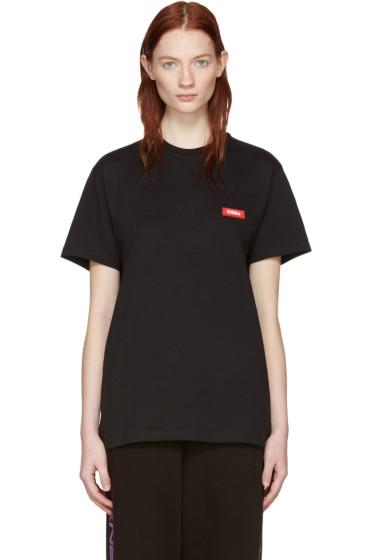 032c - ブラック Power グラフィック T シャツ