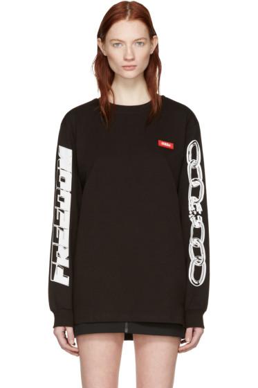 032c - ブラック チェーン グラフィック T シャツ