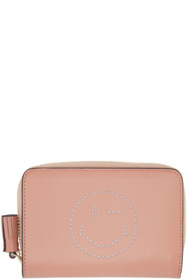 Anya Hindmarch - Pink Compact Wink Wallet