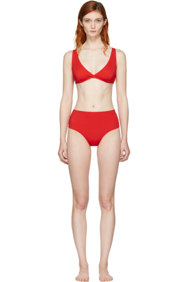 Solid & Striped - Red 'The Beverly' Bikini