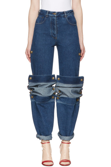Y/Project - Navy Cufflink Jeans