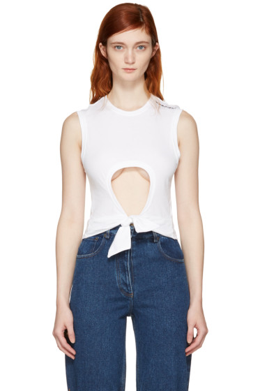 Y/Project - White Cut-Out Muscle T-Shirt