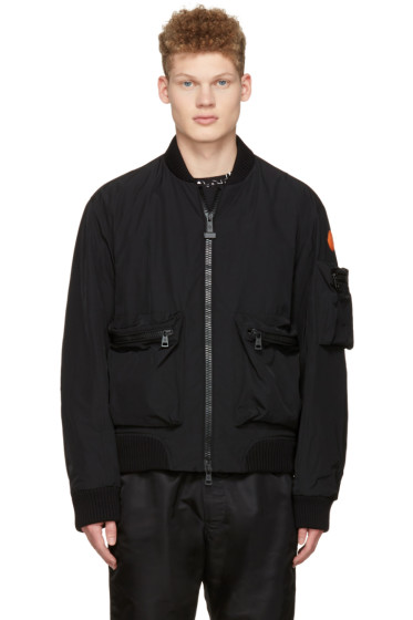 Moncler O - Black Down Bomber Jacket