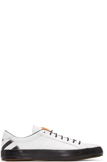 Moncler O - ホワイト レザー スニーカー