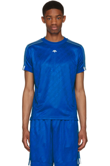 adidas Originals by Alexander Wang - Blue Soccer Jersey T-Shirt