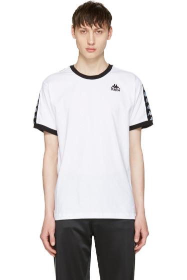 Kappa - SSENSE Exclusive White & Black Authentic Vale T-Shirt