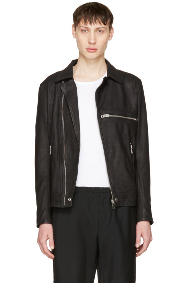 Diesel - Black Leather L-Hater Jacket