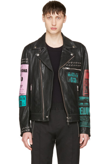 Diesel - Black Leather L-Hater-Ed Jacket