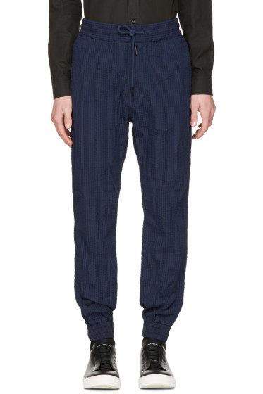 Diesel - Navy Striped P-Point Trousers