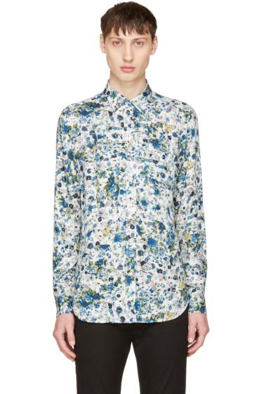 Diesel - White & Blue S-Nico Shirt