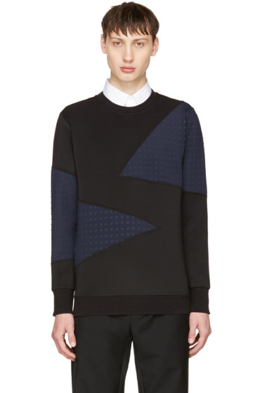 Diesel - Black & Navy S-Barbet Sweatshirt