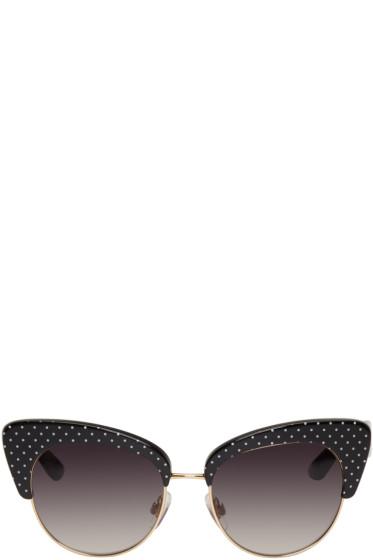 Dolce & Gabbana - Gold & Black Cat Eye Sunglasses