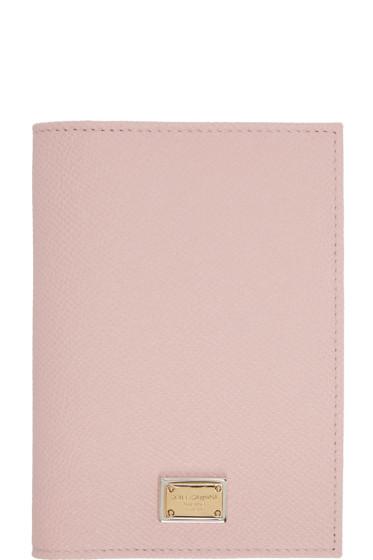 Dolce & Gabbana - Pink Leather Passport Holder