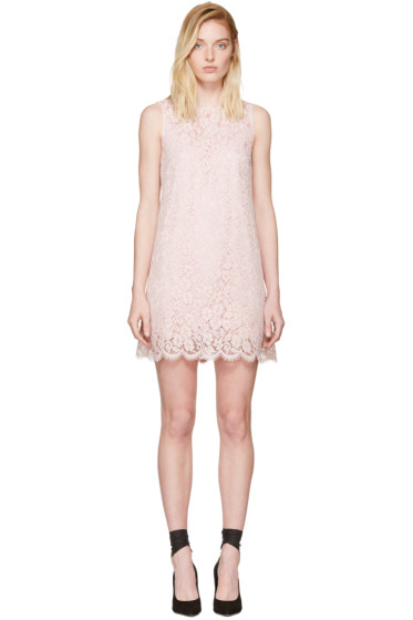 Dolce & Gabbana - Pink Lace Shift Dress