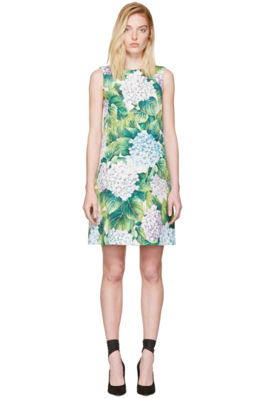 Dolce & Gabbana - Multicolor Floral Shift Dress