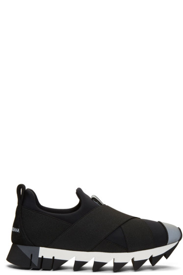 Dolce & Gabbana - Black Ibiza Slip-On Sneakers