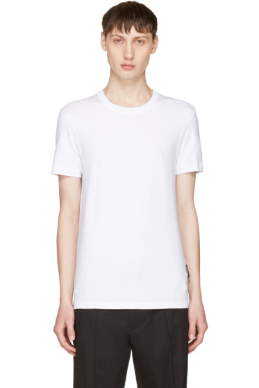 Dolce & Gabbana - White Pure R-Neck T-Shirt