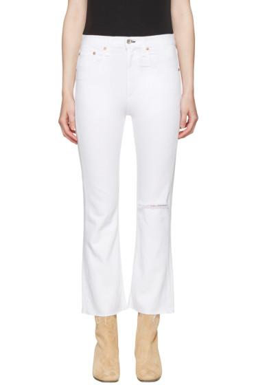 Rag & Bone - White Marilyn Crop Jeans