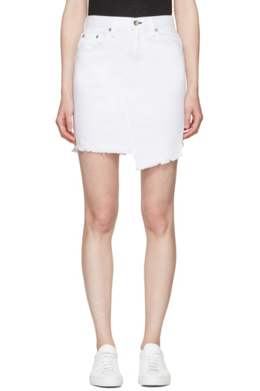 Rag & Bone - White Denim Dive Miniskirt