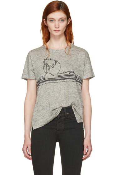 Rag & Bone - Grey Palm Embroidery T-Shirt