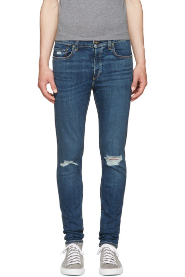 Rag & Bone - SSENSE Exclusive Blue Standard Issue Fit 1 Jeans