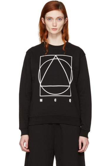 McQ Alexander McQueen - Black Logo Glyph Icon Sweatshirt