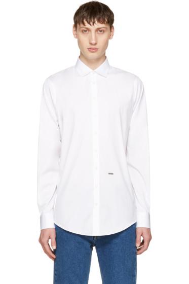 Dsquared2 - White Poplin Carpenter Shirt