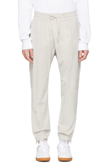 Helmut Lang - Grey Overlap Jogger Pants