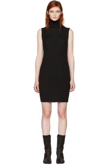Maison Margiela - Black Sleeveless Turtleneck Dress